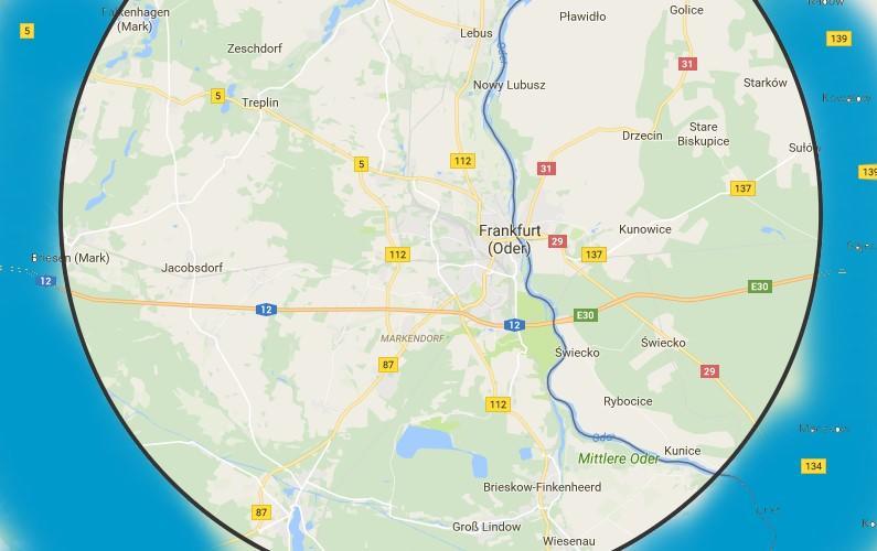 lokale Suchmaschinenoptimierung SEO, Umkreissuche